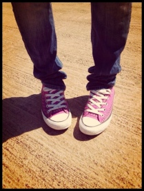 street fashion - all star shoes, cool pink design