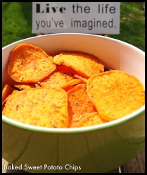 Baked Sweet Potato Chips!