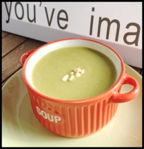 Mixed Green Veggies Cream Soup, perfect for spring weather...