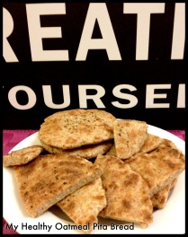 Recipe from the Oat's Series! My Oatmeal Pita Bread!