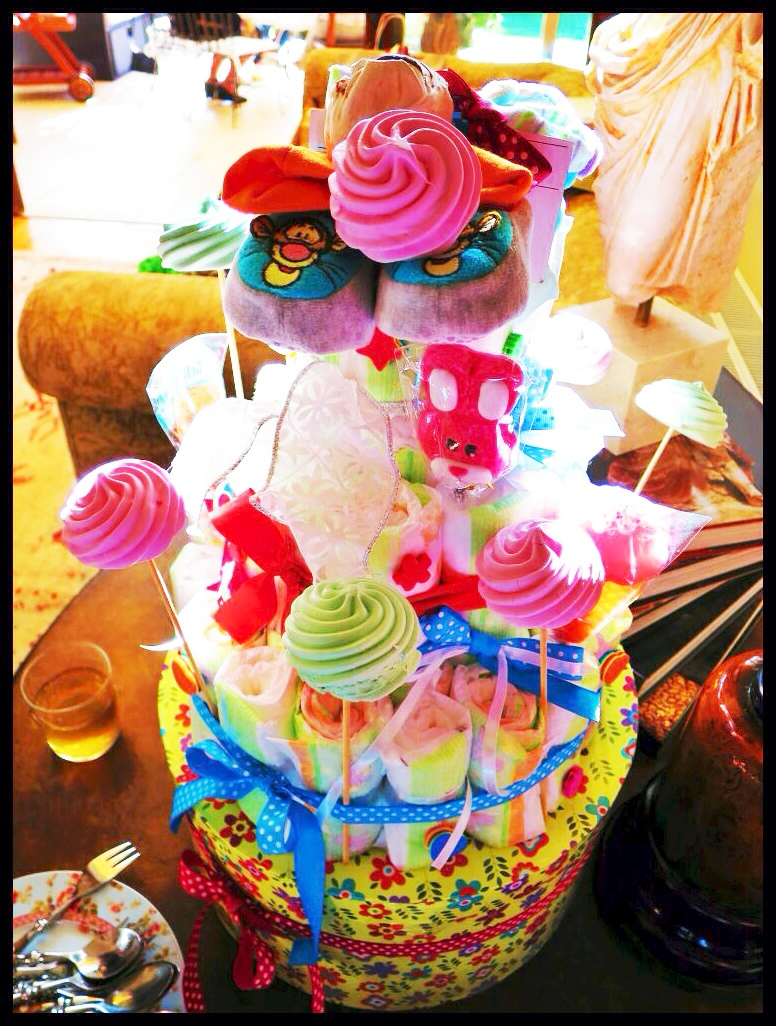 Do It Yourself Party Decorations Diaper Cake Yoggi S Way