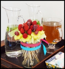 Do It Yourself Fruit Bouquet Decoration For Parties