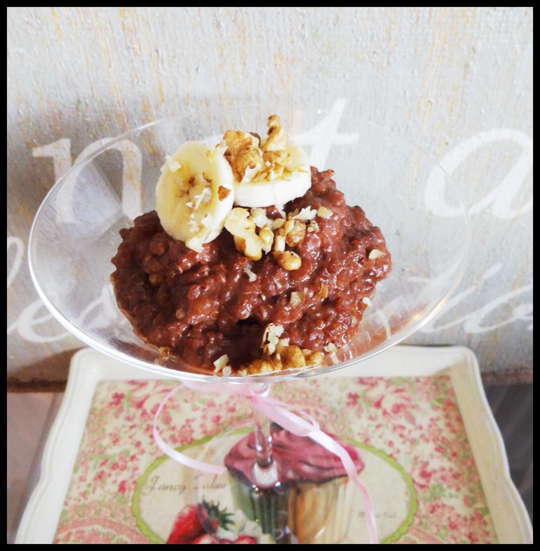 """Healthy Chocolate Quinoa """"Risotto"""""""